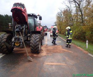 Schadstoffeinsatz: Austritt von Hydrauliköl