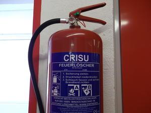 Feuerlöscherüberprüfung der Fa. Crisu