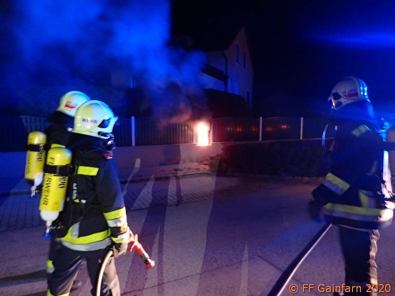 Brandeinsatz: Brand eines Hausanschlusskastens