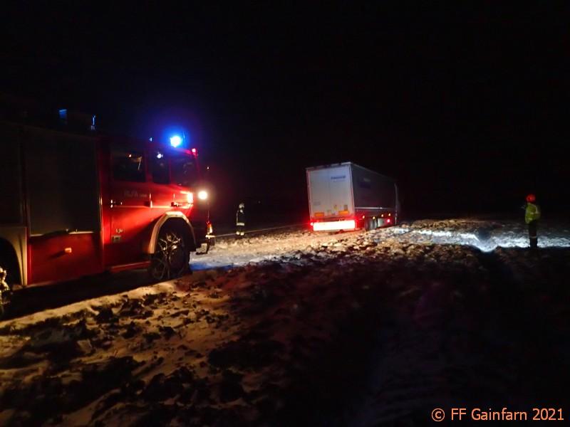 Technischer Einsatz: LKW-Bergung