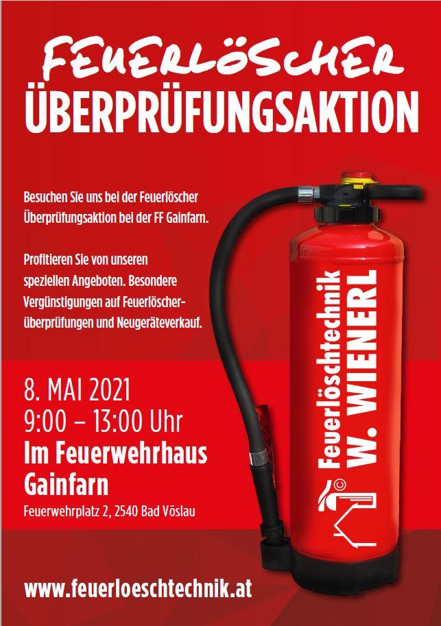 Feuerlöscherüberprüfung der Fa. Wienerl